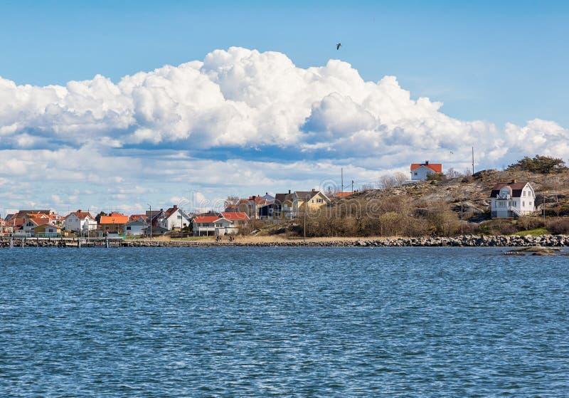 Aldeia piscatória idílico no westcoast sueco imagem de stock royalty free