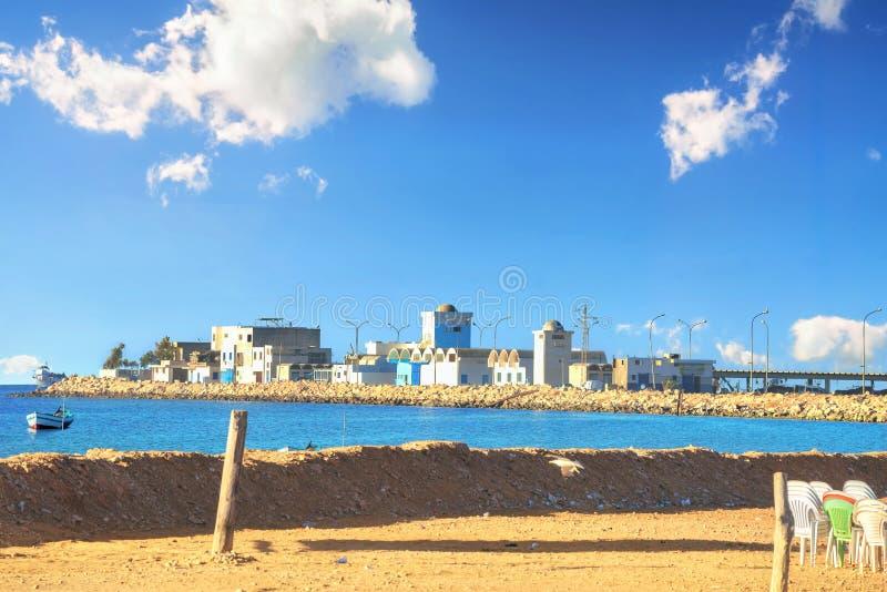 Aldeia piscatória Tunísia, Norte de África fotos de stock royalty free