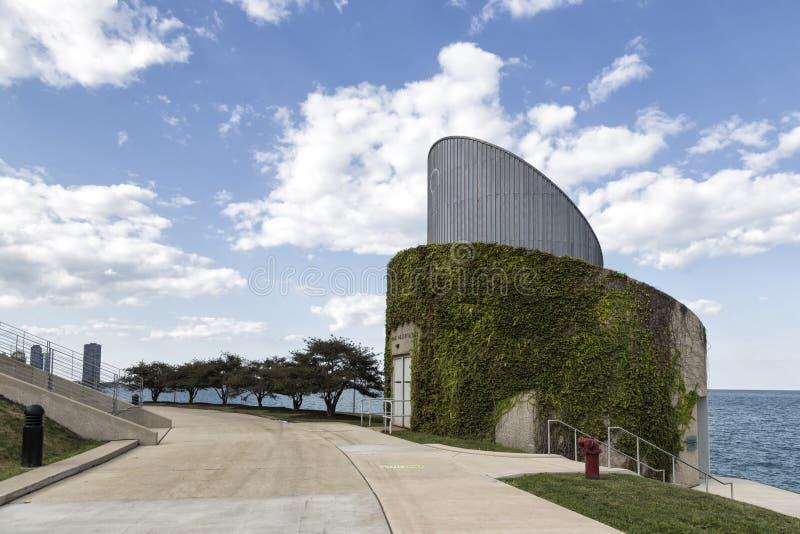 Alden Planetarium em Chicago imagens de stock