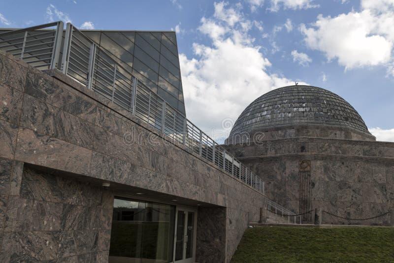 Alden Planetarium em Chicago imagem de stock