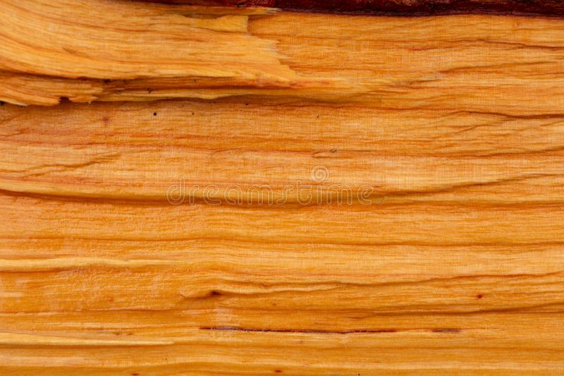 Alder with natural orange wood color stock photos