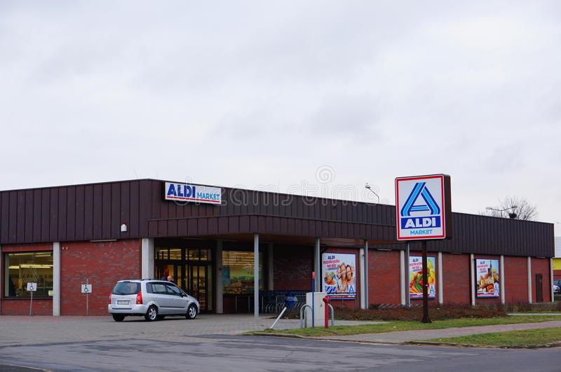 Aldi supermarket royalty free stock image