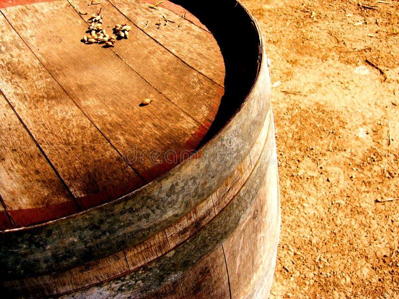 Aldinga Wine Barrel. Photo taken of an old wine barrel at Aldinga Aerodrome near the McLaren Vale, South Australia stock photos