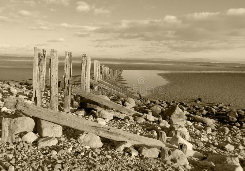 Aldingham plaża zdjęcie royalty free