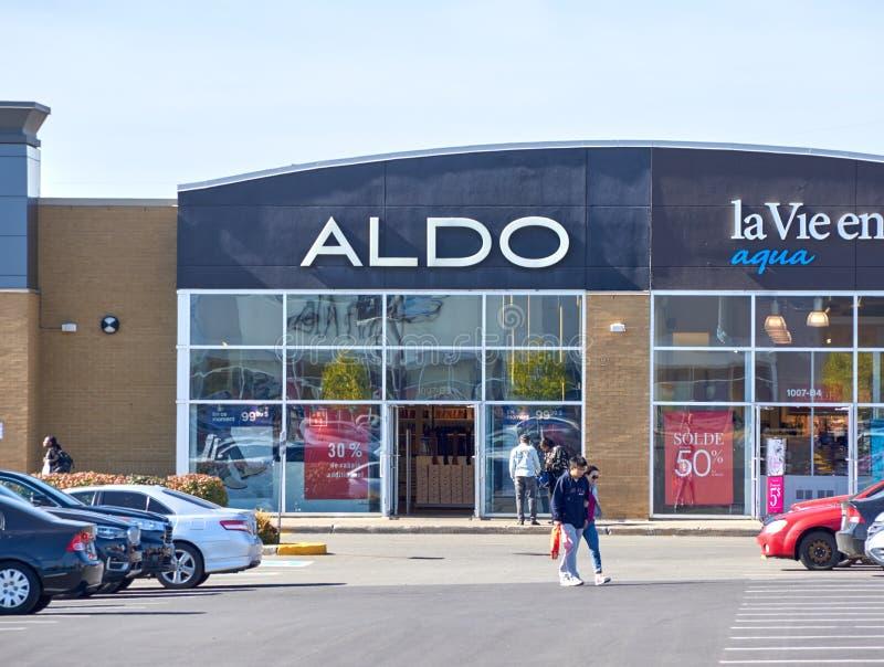 Aldo boutique i Montreal royaltyfri bild