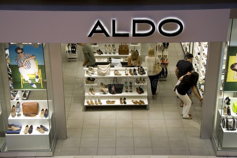 Aldo shoe store. Aldo is a popular shoe store in Bellevue Mall, Bellevue, Washington royalty free stock image