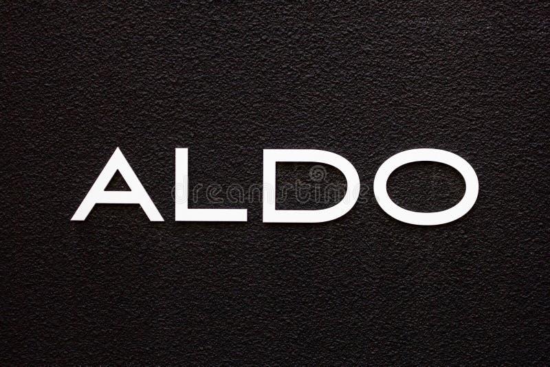 Aldo sklepu znak zdjęcie stock
