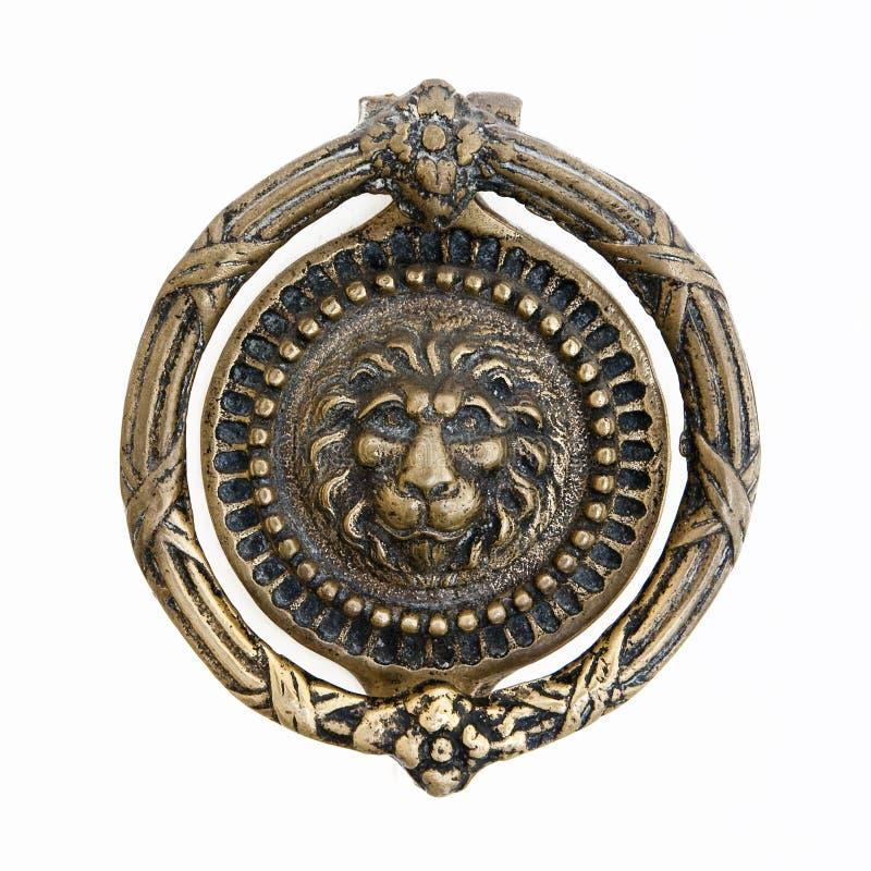 Aldrava de porta de bronze imagens de stock royalty free