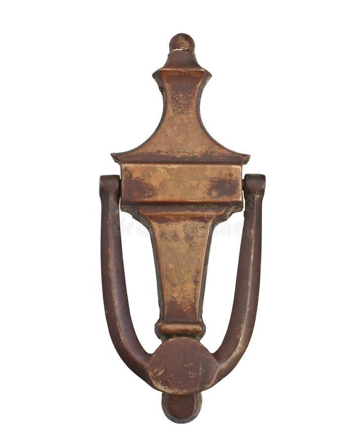 Aldrava de porta de bronze do vintage fotografia de stock