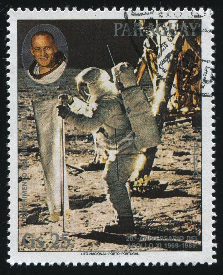 Aldrin βόμβου και ηλιακό πείραμα αέρα στοκ φωτογραφίες