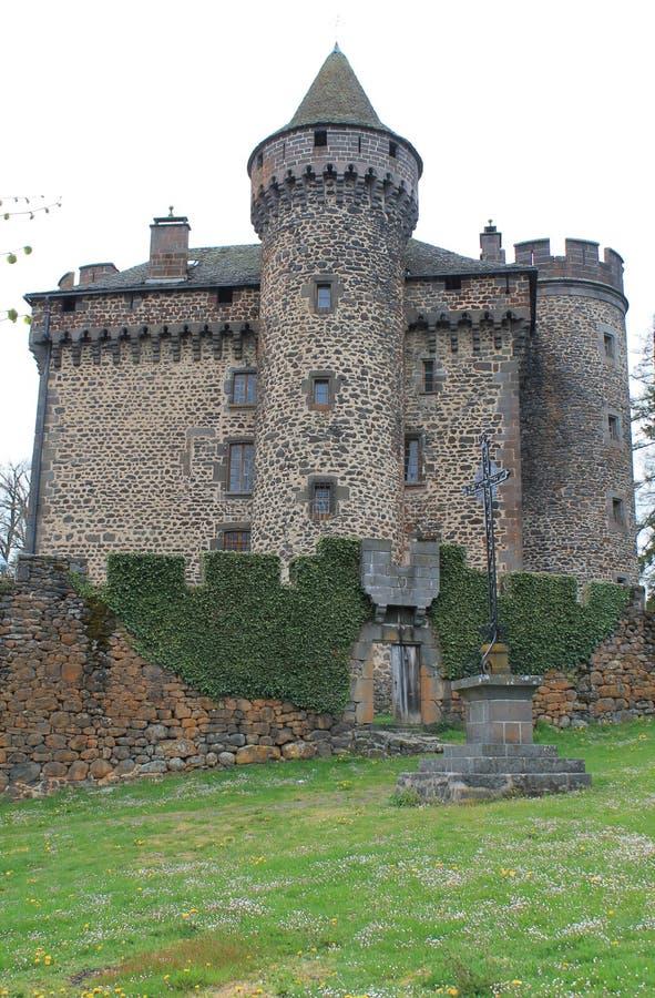 Aleaciones de plomo y estaño del DES del castillo francés, Cantal (Francia) imágenes de archivo libres de regalías