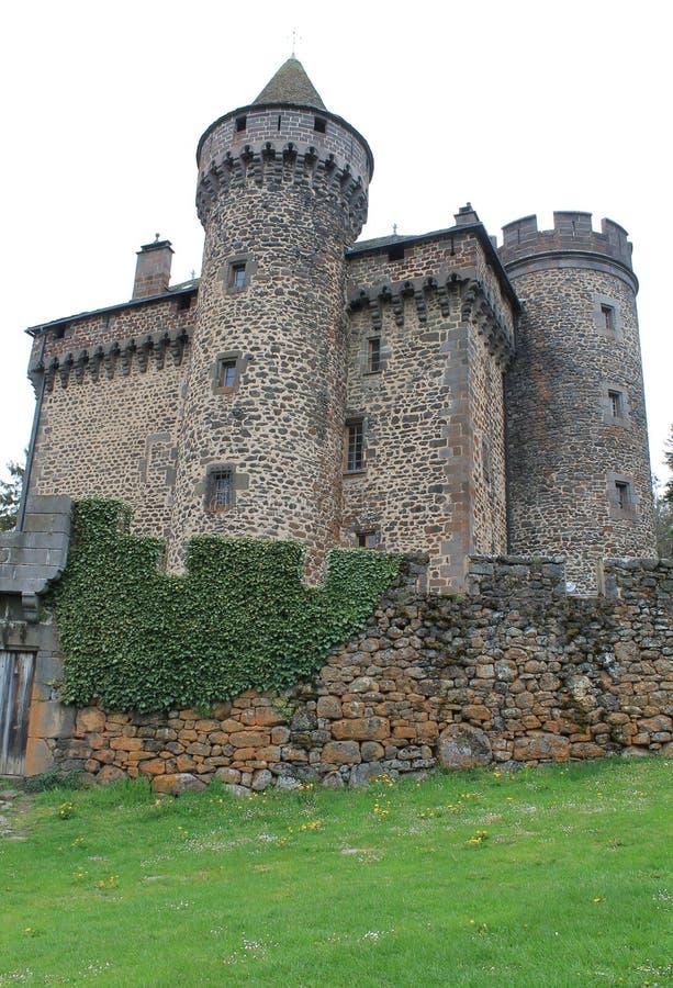 Aleaciones de plomo y estaño del DES del castillo francés, Cantal (Francia) imagen de archivo libre de regalías