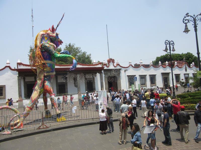 Alebrije énorme de Coyoacan photo stock