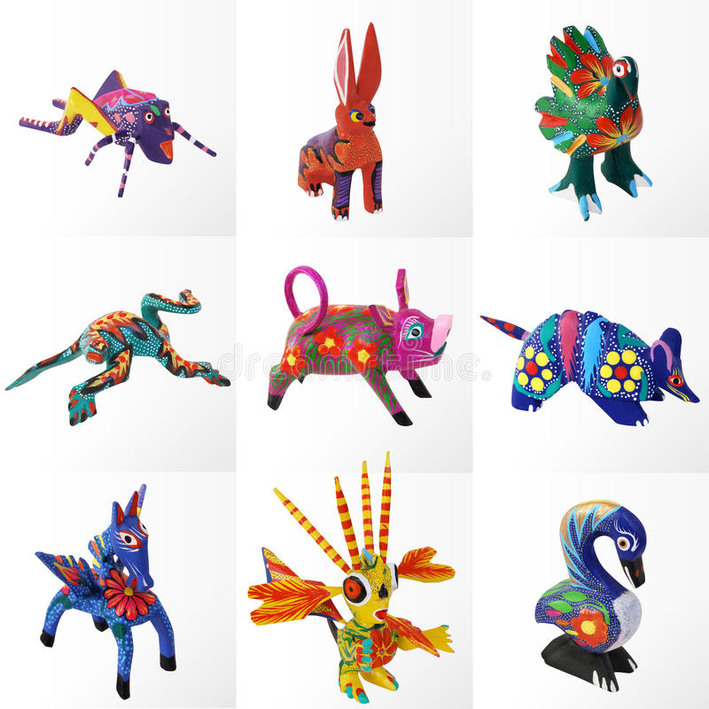 Free Alebrijes Made In Oaxaca, Mexico Royalty Free Stock Photo - 16870665