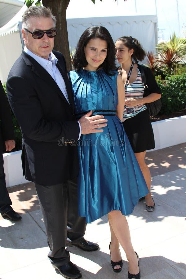 Alec Baldwin en Hilaria Baldwin stock foto's