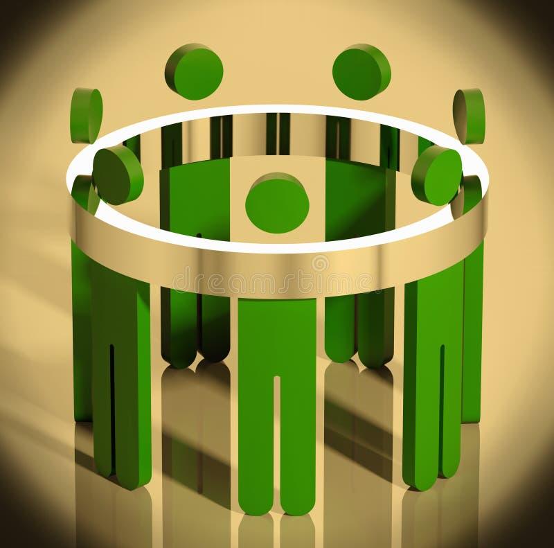 Alegoria da equipe do negócio. ilustração royalty free