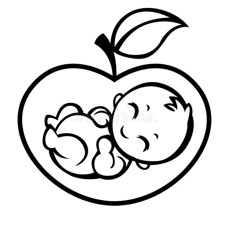 Alegoryczny symbol macierzyństwo ilustracji