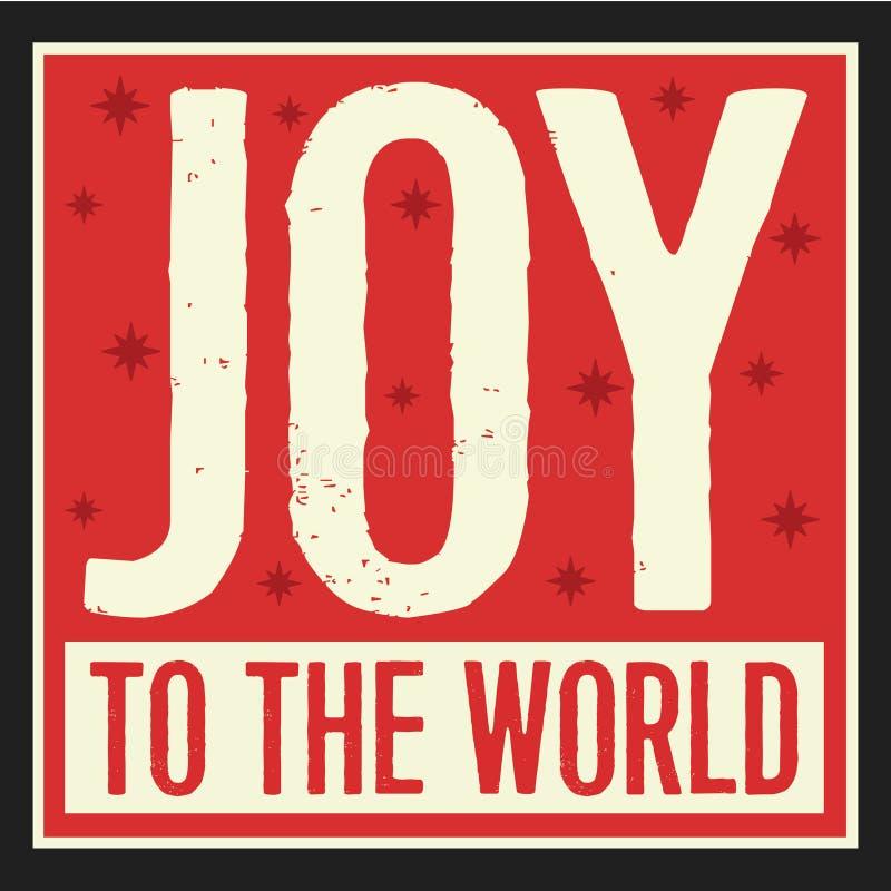 Alegría al vintage Christian Christmas Card del mundo libre illustration