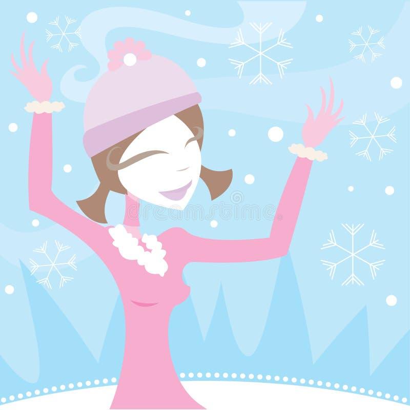 Alegría del invierno ilustración del vector