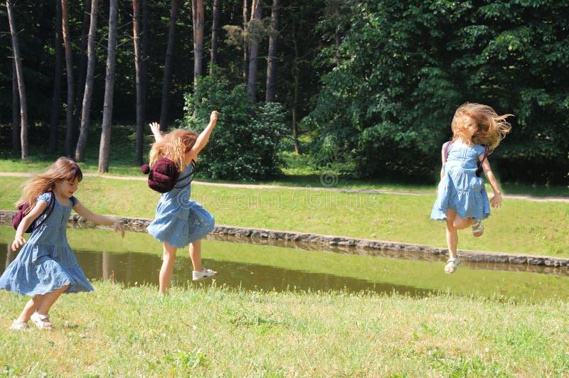 Alegría en el prado imagen de archivo libre de regalías