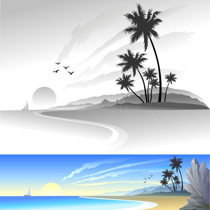 Alegría en la playa libre illustration