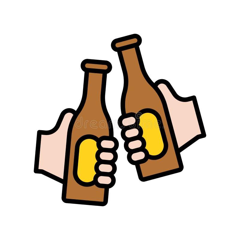 Alegrías vector, icono llenado relacionado del partido del verano libre illustration