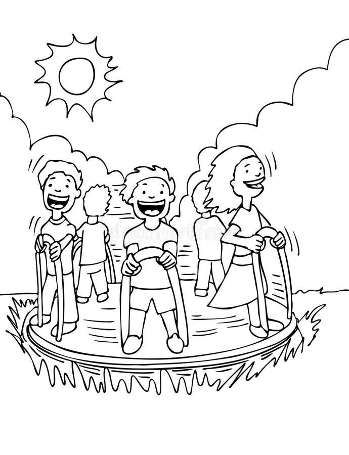 Alegre vai o círculo ilustração do vetor