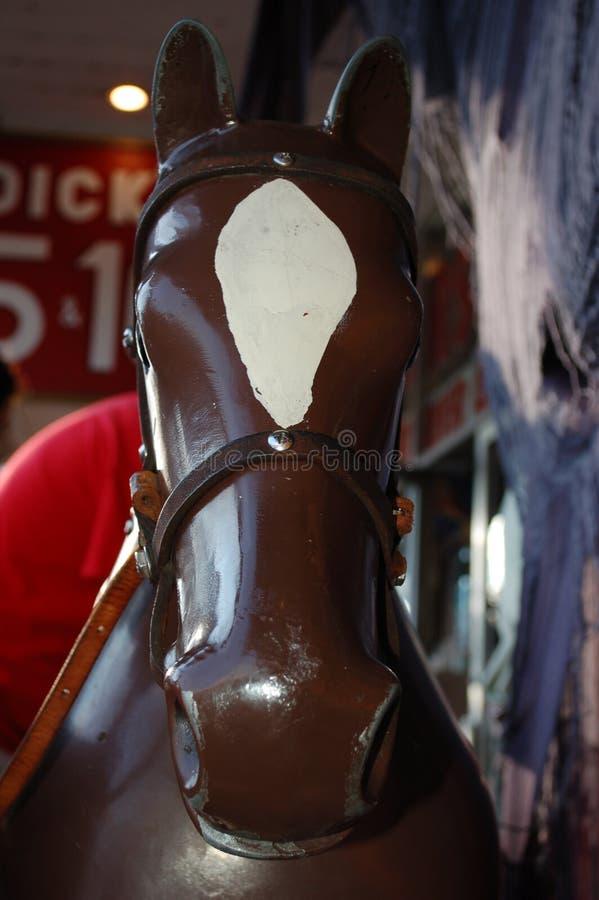 Alegre vai o cavalo do círculo fotos de stock royalty free