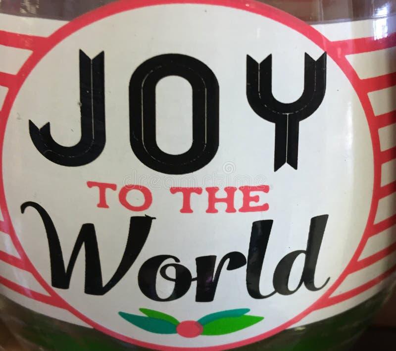Alegria ao mundo imagens de stock