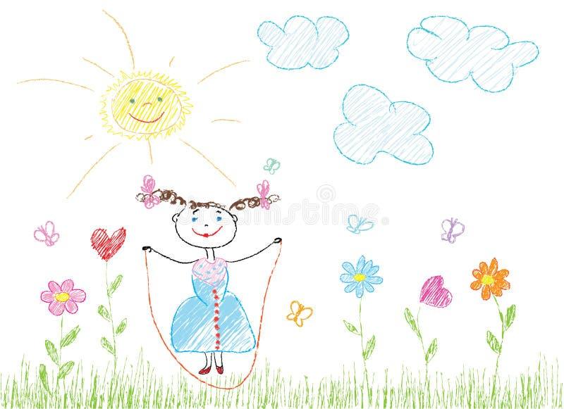 Alegria criançola ilustração stock
