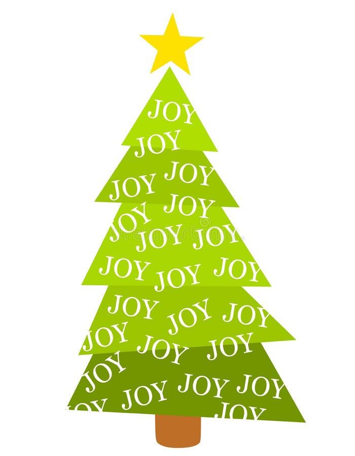 Alegria da árvore do Feliz Natal ilustração stock