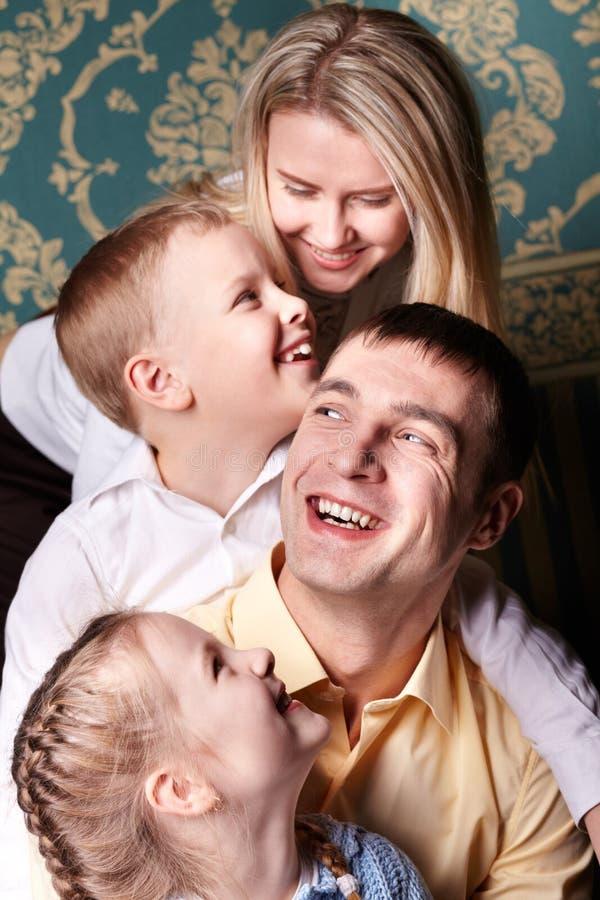 Alegria da família imagens de stock