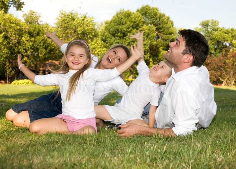 Alegria da família imagem de stock