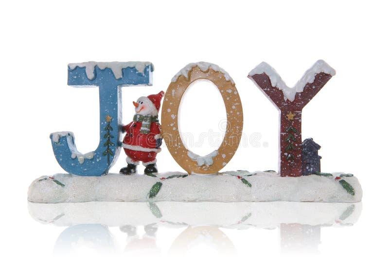Alegria do boneco de neve do Natal imagens de stock royalty free
