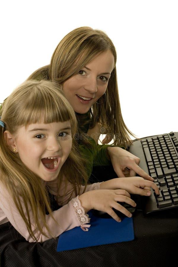 Alegria do computador fotos de stock