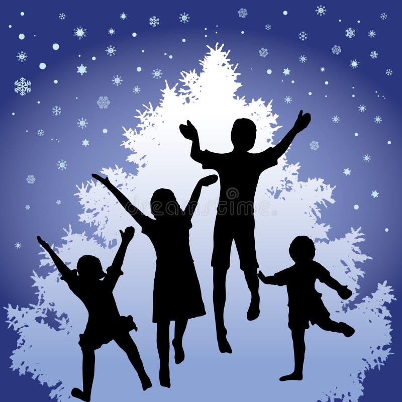 Alegria do Natal ilustração stock