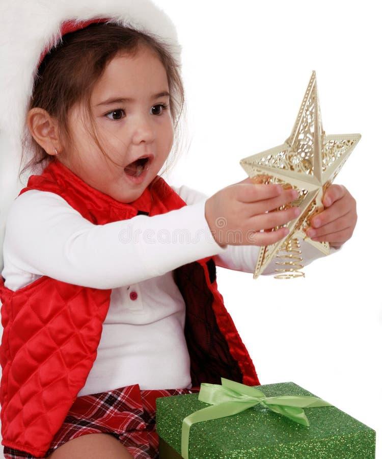 Alegria do Natal da infância imagens de stock