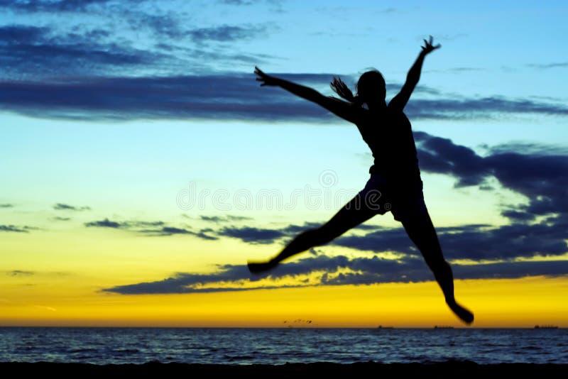 Alegria do por do sol. fotografia de stock royalty free