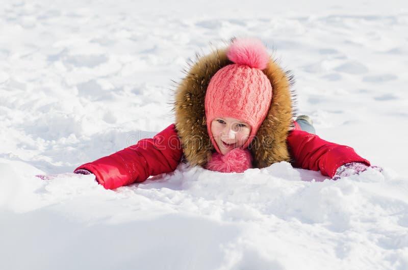 Alegria do ` s das crianças do inverno fotografia de stock