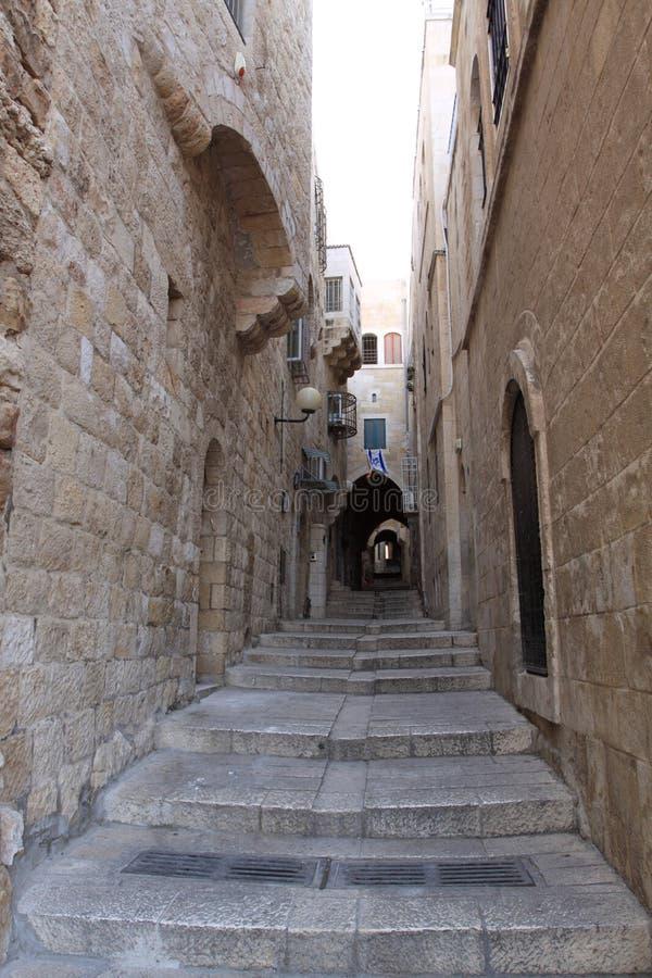 alei antycznego jerusale żydowska ćwiartka obrazy stock