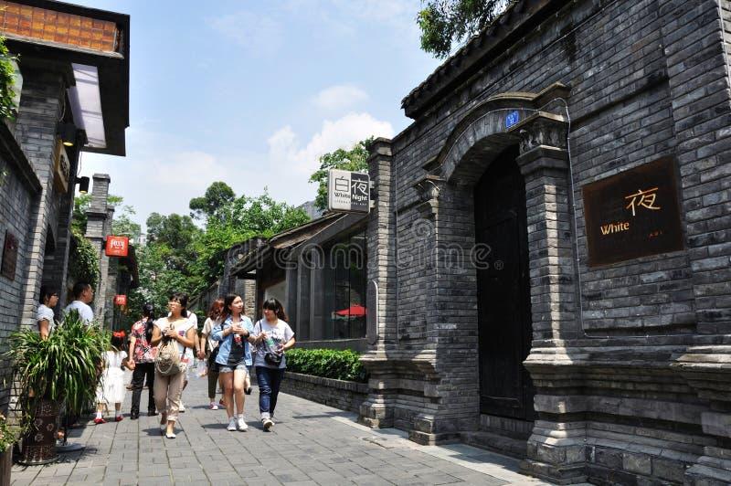 alei Chengdu turystów zhai fotografia stock