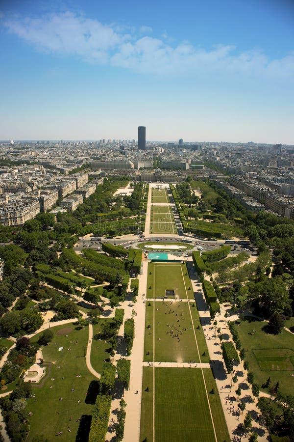 Alei des czempionów Paris wierzchołka ulicy widok zdjęcie stock