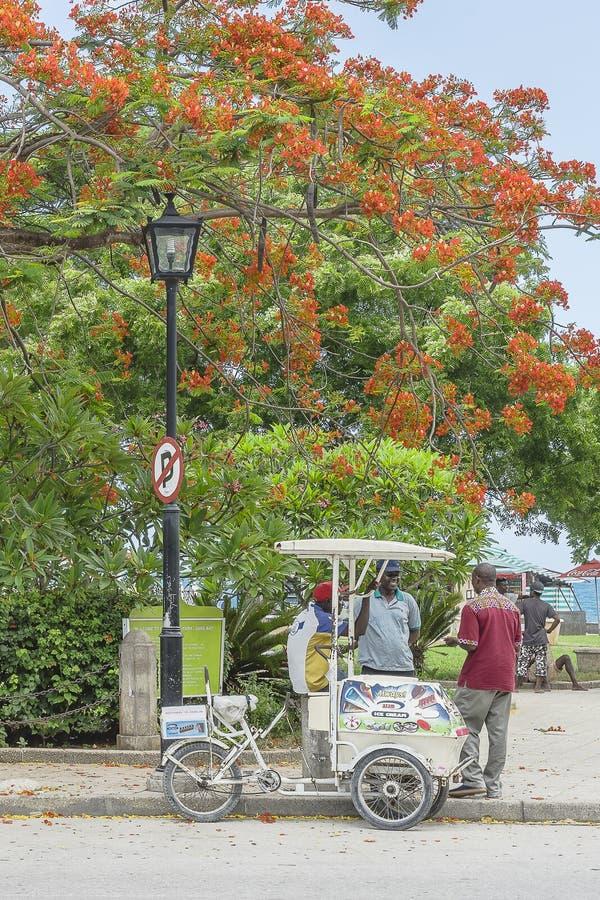 alei wyspy kamienia miejskich Zanzibaru środków fotografia royalty free