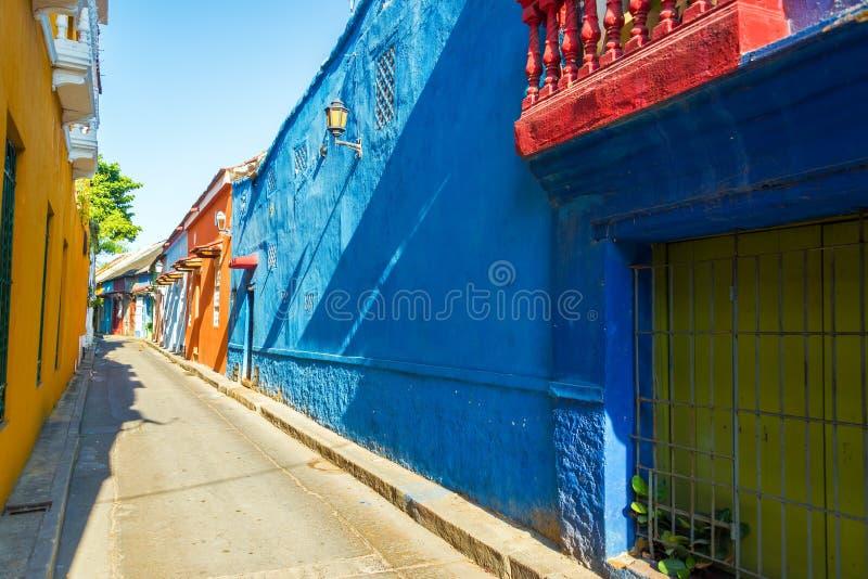 Aleia colonial em Cartagena imagem de stock royalty free