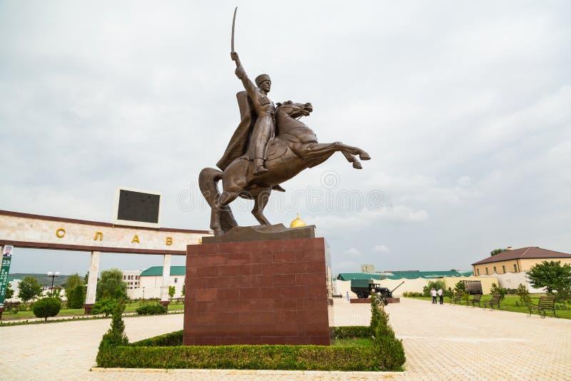 Aleia da glória em Grozny, na república chechena, e no museu o imagem de stock royalty free