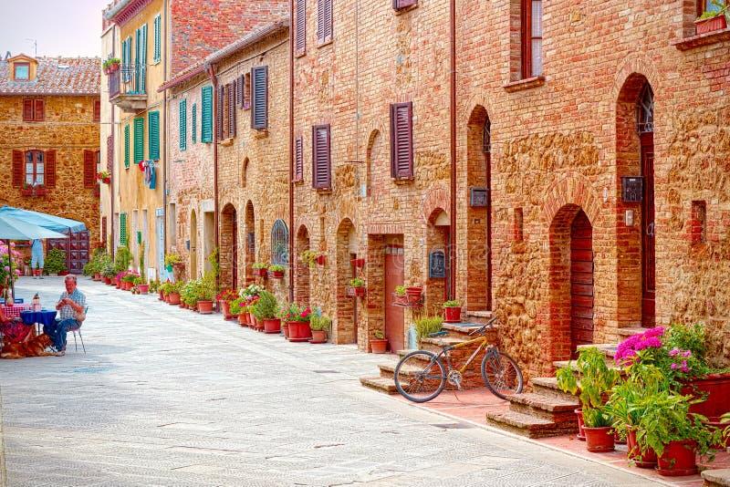 Aleia em Pienza, Siena, Toscânia imagens de stock royalty free