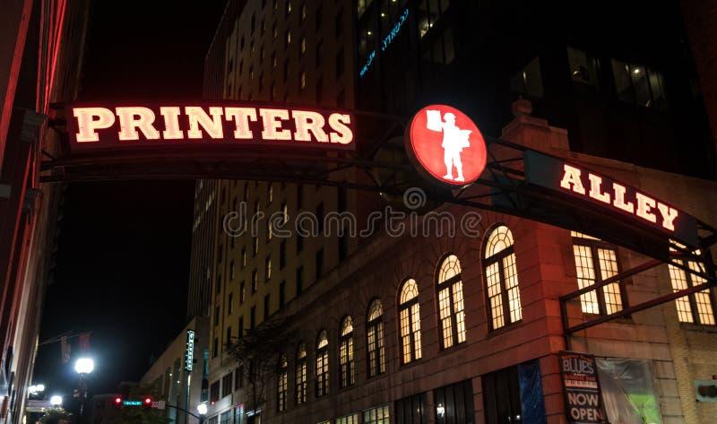 Aleia Nashville das impressoras, Tennessee imagens de stock