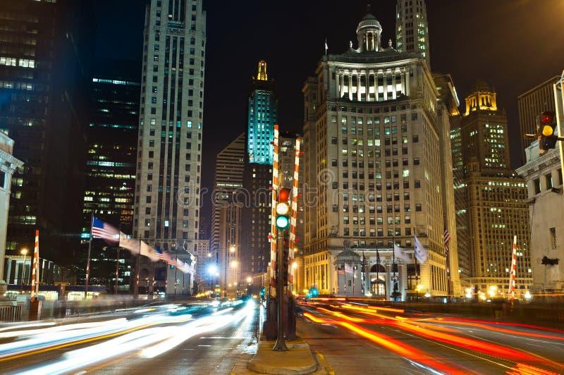 aleja Chicago Michigan fotografia stock