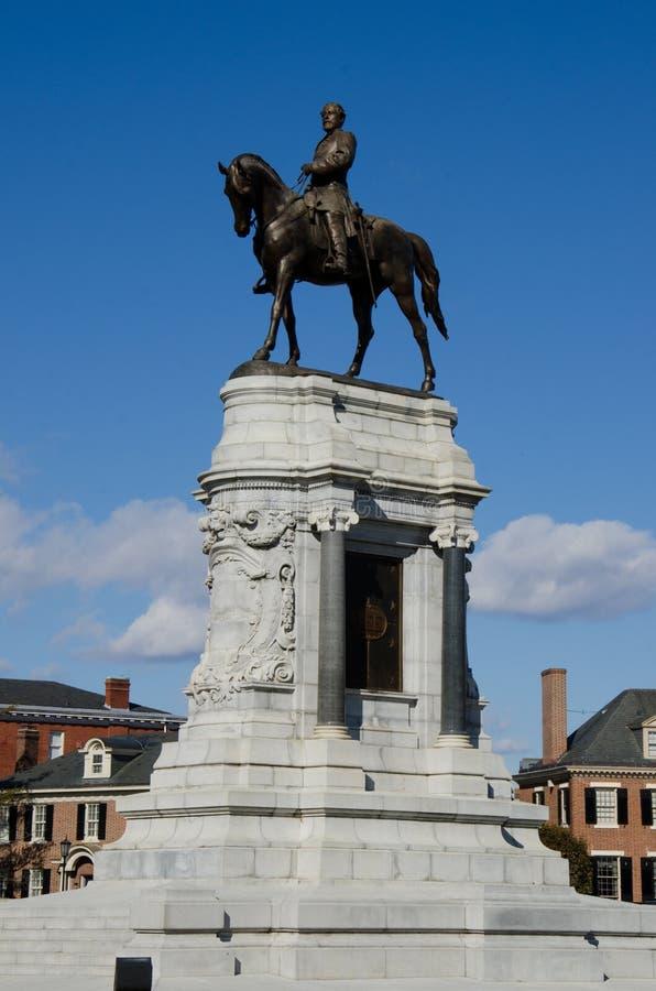aleja e ogólny zawietrzny pomnikowy Richmond Robert Virginia lee zdjęcie stock