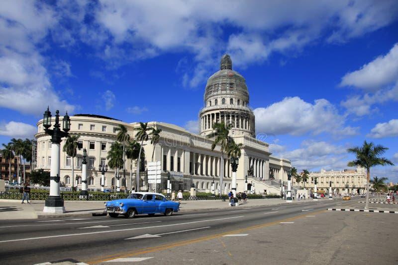 Aleja przed Capitol Stary Hawański Kuba zdjęcia royalty free
